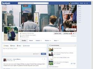 Facebook comenzó el año con nuevo Timeline