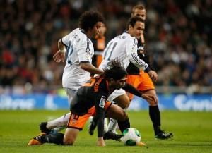 """Los """"Merengues"""" pusieron un pie en las semifinales de la Copa del Rey"""