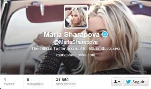 La sexy Sharápova se suma a la fiebre de Twitter