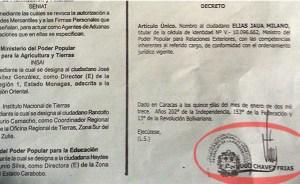 Publican decreto con firma de Chávez (Foto y Video)