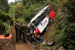 Dieciséis muertos y 22 heridos en un accidente de autobús que enluta a Chile (Fotos)