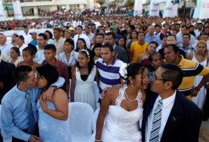 Boda colectiva en Managua (Fotos)