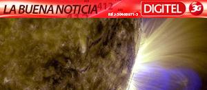 Una espectacular erupción solar