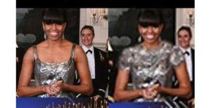 Medios iraníes le taparon el escote a Michelle Obama (Foto)