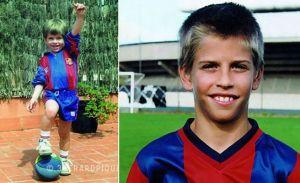 Piqué revela las más tiernas fotografías de su infancia (Fotos+Awww)