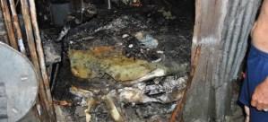 Niño muere carbonizado en el interior de su casa