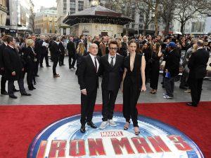 """Rebecca Hall llega al estreno de """"Iron Man 3"""" en Londres"""