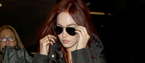 Megan Fox luce su cabellera roja