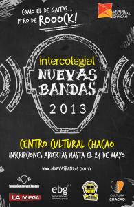 El Intercolegial Nuevas Bandas 2013 llega al Teatro del Centro Cultural Chacao
