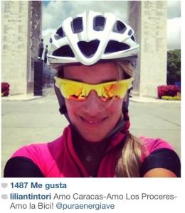 Lilian Tintori en el Paseo Los Próceres en bicicleta (Foto)
