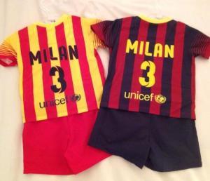 Milan ya tiene sus uniformes del Barcelona (Foto)