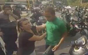 Vecino usa un pitbull y a la GNB para perseguir a manifestantes (VIDEO)