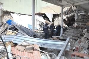 Así quedaron los locales comerciales destruidos por explosión en Campo Claro (Fotos)
