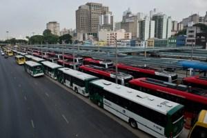 Huelga de autobuses genera caos en Sao Paulo