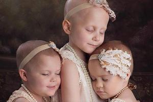 ¡Conmovedor! La foto de tres niñas sobrevivientes al cáncer que se volvió viral