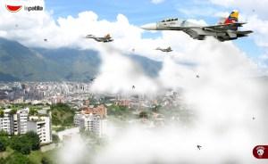 Lástima que los Sukhoi que volaron hoy no batallaron al enemigo real: El mosquito (fotomontaje)