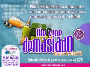 Primer Networking para inmigrantes en Miami: Me vine demasiado ¿Y ahora?