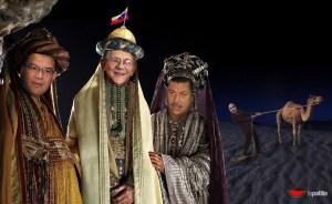 ¡Llegaron los Reyes Magos a Venezuela!… y el retrocede camellos (FOTOMONTAJE)