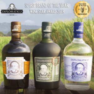 Ron Diplomático galardonado como mejor destilado del año con el Wine Star