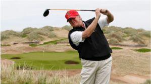 Donald Trump instaló un simulador de golf en una habitación de la Casa Blanca