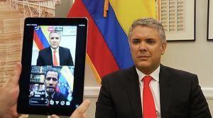 Duque reiteró a Guaidó su apoyo para el ingreso de ayuda humanitaria a Venezuela (VIDEO)