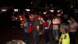 Realizan vigilia en San  Antonio del Tachira en apoyo a la ayuda humanitaria