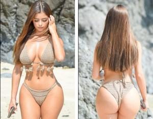 Nuestra gordibuena favorita luciendo un bikini que destaca sus curvas pecaminosas