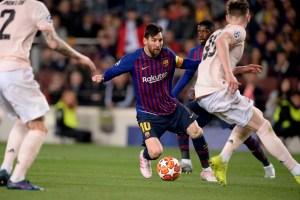 Messi lleva al Barcelona a semifinales de Champions en cuatro minutos