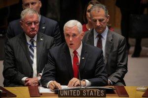 Pence pide a la ONU que reconozca a Juan Guaidó como presidente de Venezuela