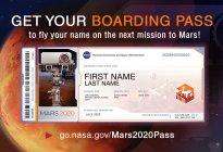 La Nasa ofrece al público pasajes simbólicos a Marte