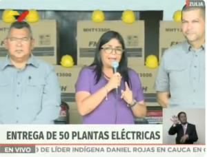 """El Chiste del día: Delcy Eloina consiguió 50 plantas eléctricas para """"abastecer"""" el estado Zulia (VIDEO)"""