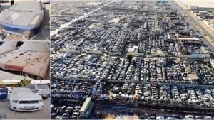 ¡Increíble! El cementerio de ESPECTACULARES carros que están abandonados en Dubai (Fotos)