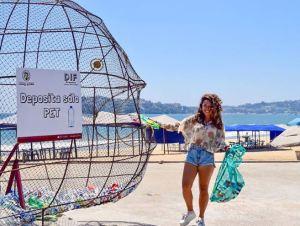 "Instalan ""Peces Gigantes"" en playas de México para recolectar plástico y proteger océanos"