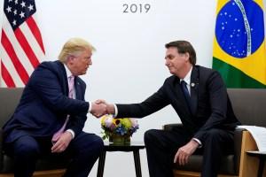 Bolsonaro ratificó su alianza con Trump para restaurar la democracia en Venezuela