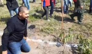 Omar Prieto se puso a dar brinquitos con los milicianos (video)