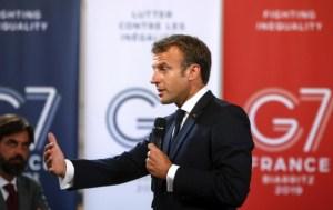 """Macron llama a una """"movilización de todas las potencias"""" contra incendios en Amazonía"""