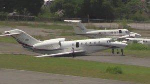 Un jet salió de la pista y se accidentó en La Carlota (Fotos)