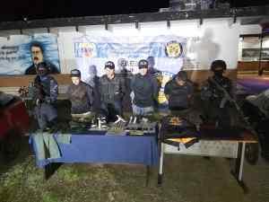Detienen a tres Polinacionales y a un antisocial por los delitos de robo, extorsión y secuestro