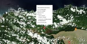 Sismo de magnitud 3.3 en Yaguaraparo, en el estado Sucre