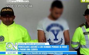 Venezolano asesinó a un hombre en Cúcuta porque se negó a pagar una cuenta (Video)