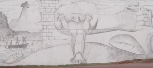 Mural pintado con lápiz negro en frontera entre Argentina y Paraguay bate récord Guinness