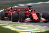 ¡Caos en Ferrari! Vettel y Leclerc tuvieron un choque mientras luchaban por el podio en Brasil (VIDEO)