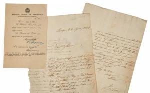 Subastadas cartas de Bolívar procedentes de fondo acusado de estafa