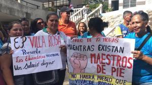 Así transcurre el paro de maestros en Margarita este #12Nov (fotos)