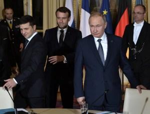Putin y Zelenski se reunieron en París para convenir la paz en Ucrania
