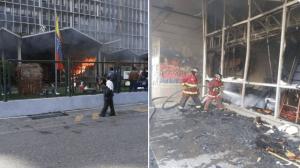 EN FOTOS: Así fue el incendio desarrollado en la sede principal de la Unefa
