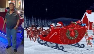Abuelito convirtió su mototaxi en trineo para pasear gratis a niños en Navidad