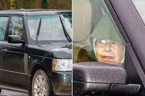Encapuchada… la reina Isabel fue vista en público por primera vez tras crisis con Harry (FOTOS)