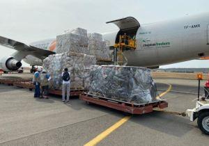 Delcy Eloína recibió la ayuda donada por la OPS, Unicef y Rusia contra el Covid-19