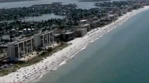 Reabren playas de Sarasota para recreación